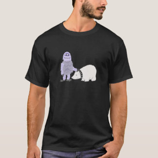 Abominable Snowman with Pet Polar Bear T-Shirt