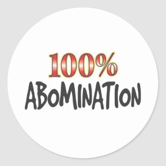 Abomination 100 Percent Sticker