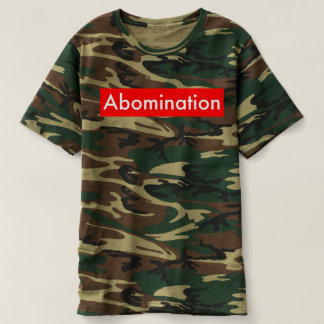 abomination camo t shirt