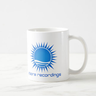 Abora Recordings Blue-on-White Mug