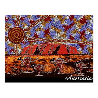 Aboriginal Art Australia - Uluru Postcard