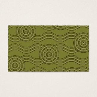Aboriginal art bush business card