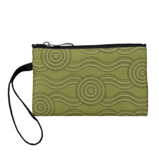 Aboriginal art bush change purse