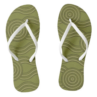Aboriginal art bush flip flops