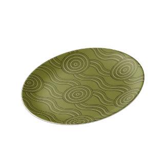 Aboriginal art bush porcelain plates
