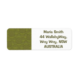 Aboriginal art bush return address label
