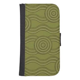 Aboriginal art bush samsung s4 wallet case