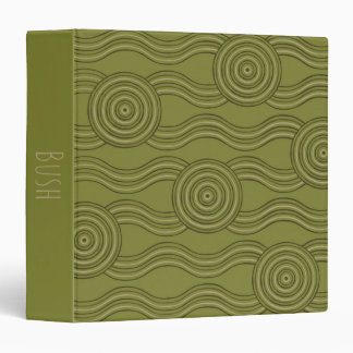Aboriginal art bush vinyl binder