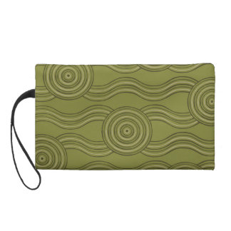Aboriginal art bush wristlet clutches
