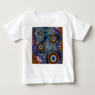 Aboriginal Art - Camping Baby T-Shirt