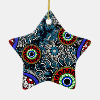 Aboriginal Art - Camping Ceramic Ornament