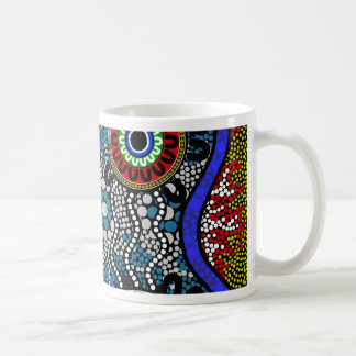 Aboriginal Art - Camping Coffee Mug