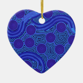 Aboriginal Art - Circles & Lines Ceramic Ornament