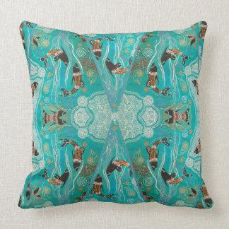 Aboriginal Art Dolphin Dreaming Pillow Cushion