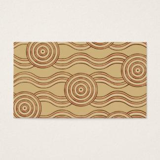 Aboriginal art earth business card