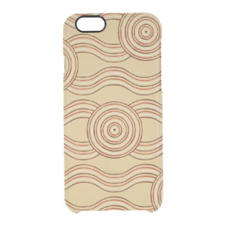Aboriginal art earth clear iPhone 6/6S case