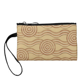 Aboriginal art earth coin purse