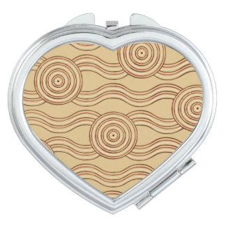 Aboriginal art earth compact mirror