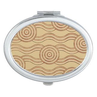 Aboriginal art earth compact mirrors