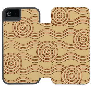 Aboriginal art earth incipio watson™ iPhone 5 wallet case