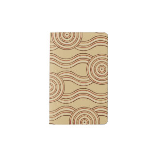 Aboriginal art earth pocket moleskine notebook