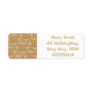 Aboriginal art earth return address label
