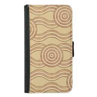 Aboriginal art earth samsung galaxy s5 wallet case