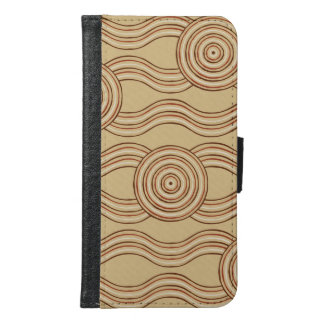 Aboriginal art earth samsung galaxy s6 wallet case