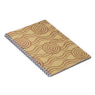 Aboriginal art earth spiral notebook