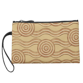 Aboriginal art earth wristlet purses
