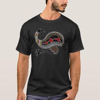 Aboriginal Art Emu - Authentic Aboriginal Art T-Shirt