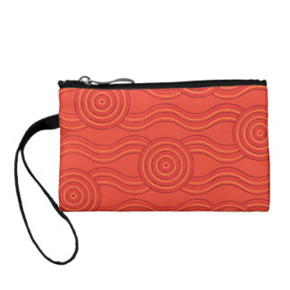 Aboriginal art fire coin wallets