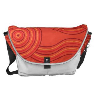 Aboriginal art fire commuter bag