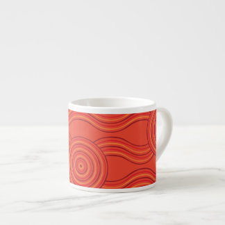 Aboriginal art fire espresso cup
