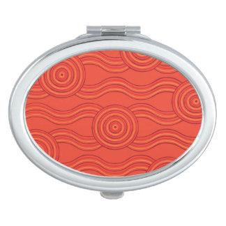 Aboriginal art fire makeup mirrors