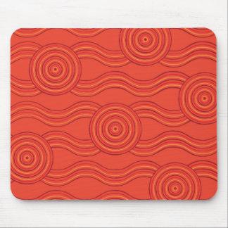 Aboriginal art fire mouse pad