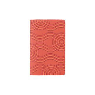 Aboriginal art fire pocket moleskine notebook