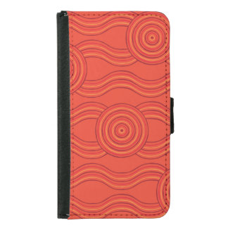 Aboriginal art fire samsung galaxy s5 wallet case