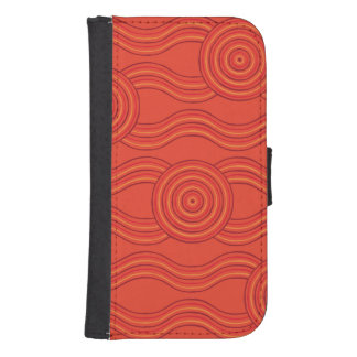 Aboriginal art fire samsung s4 wallet case