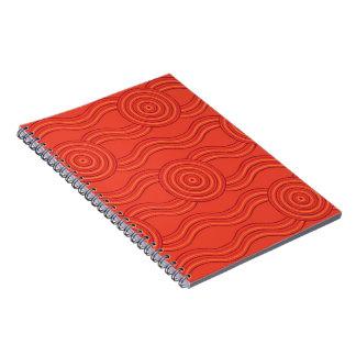 Aboriginal art fire spiral notebook