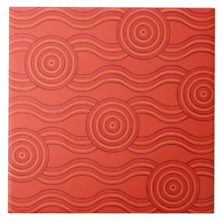 Aboriginal art fire tile