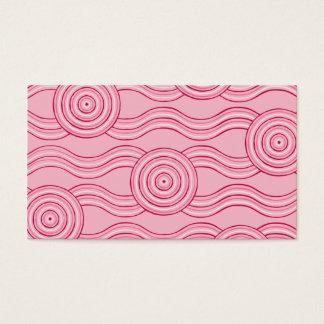 Aboriginal art gumnut blossoms business card
