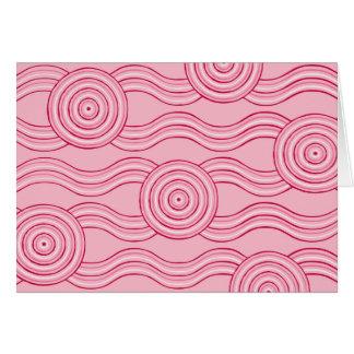 Aboriginal art gumnut blossoms card