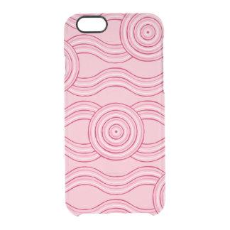 Aboriginal art gumnut blossoms clear iPhone 6/6S case