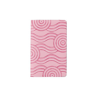 Aboriginal art gumnut blossoms pocket moleskine notebook