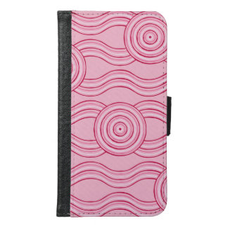 Aboriginal art gumnut blossoms samsung galaxy s6 wallet case