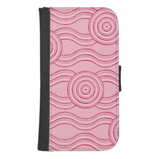 Aboriginal art gumnut blossoms samsung s4 wallet case