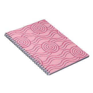 Aboriginal art gumnut blossoms spiral notebook