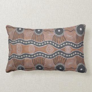 Aboriginal Art Kangaroo Country Lumbar Pillow