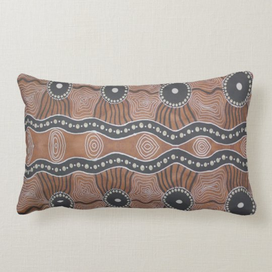Aboriginal Art Kangaroo Country Lumbar Pillow